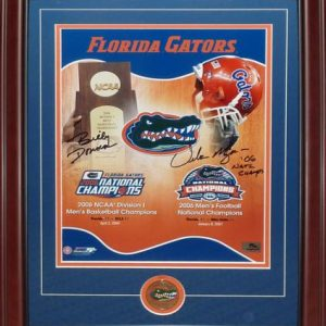 Billy Donovan And Urban Meyer Autographed Florida Gators (Dual Championship) Deluxe Framed 11x14 Composite Photo