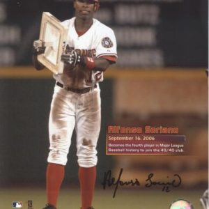 Alfonso Soriano Autographed Washington Nationals (40/40 Club) 8x10 Photo