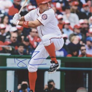 Ryan Zimmerman Autographed Washington Nationals (White Jersey) 8x10 Photo