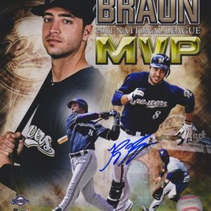 Ryan Braun Autographed Milwaukee Brewers (MVP Collage) 8x10 Photo