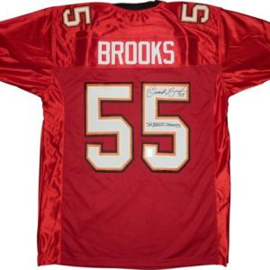 "Derrick Brooks Autographed Tampa Bay Buccaneers (Red #55) Jersey w/ ""SB XXXVII Champs"" - Brooks Holo"