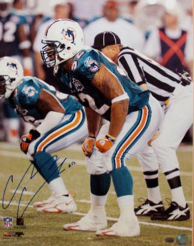 Channing Crowder Autographed Miami Dolphins 16x20 Photo