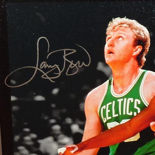online retailer 21aa7 1738d Larry Bird And Magic Johnson Autographed Celtics / Lakers