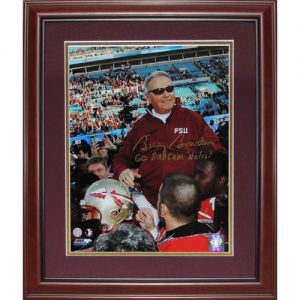 "Bobby Bowden Autographed Florida State FSU Seminoles (Last Game) Deluxe Framed 11x14 Photo w/ ""Go Dadgum Noles"""