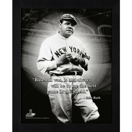 """Babe Ruth New York Yankees (Signing Ball) Framed 11x14 """"Pro Quote"""" #1"""