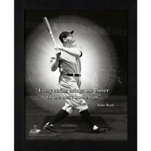 "Babe Ruth New York Yankees (HR Swing) Framed 11x14 ""Pro Quote"" #2"