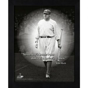 "Babe Ruth New York Yankees (Walking) Framed 11x14 ""Pro Quote"" #3"