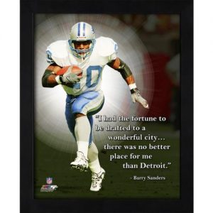 "Barry Sanders Detroit Lions Framed 11x14 ""Pro Quote"""