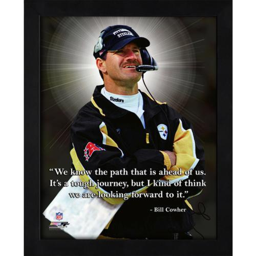 """Bill Cowher Pittsburgh Steelers Framed 11x14 """"Pro Quote"""""""