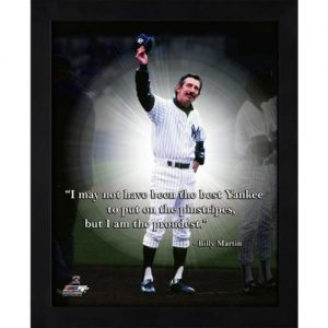 "Billy Martin New York Yankees Framed 11x14 ""Pro Quote"""