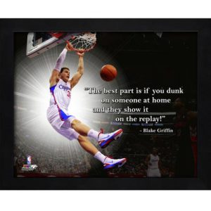 "Blake Griffin Los Angeles Clippers Framed 11x14 ""Pro Quote"""