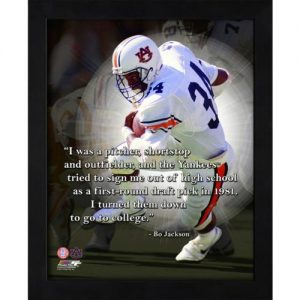 "Bo Jackson Auburn Tigers Framed 11x14 ""Pro Quote"""