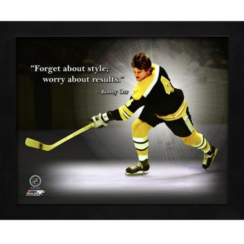 "Bobby Orr Boston Bruins Framed 11x14 ""Pro Quote"""