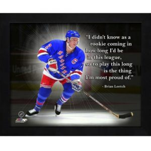 "Brian Leetch New York Rangers Framed 11x14 ""Pro Quote"""