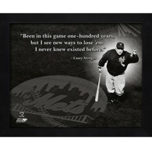 "Casey Stengel New York Mets Framed 11x14 ""Pro Quote"""