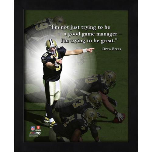 "Drew Brees New Orleans Saints Framed 11x14 ""Pro Quote"""