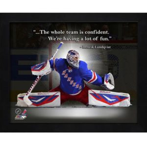 "Henrik Lundqvist New York Rangers Framed 11x14 ""Pro Quote"""