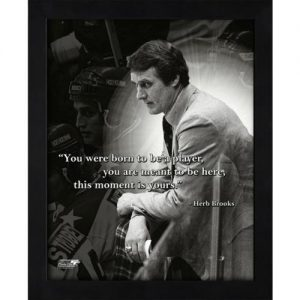 """Herb Brooks 1980 US Olympic Hockey (Miracle On Ice) Framed 11x14 """"Pro Quote"""""""