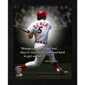 "Johnny Bench Cincinnati Reds Framed 11x14 ""Pro Quote"""