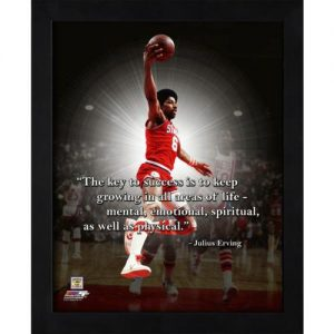 "Julius Erving Philadelphia 76ers Framed 11x14 ""Pro Quote"""