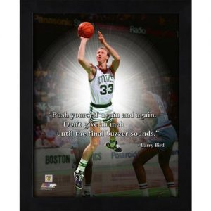 "Larry Bird Boston Celtics (Shooting) Framed 11x14 ""Pro Quote"""