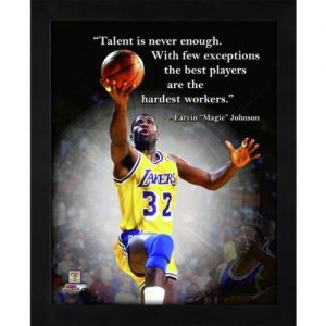 "Magic Johnson Los Angeles Lakers Framed 11x14 ""Pro Quote"""