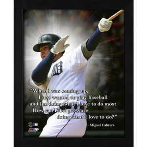 "Miguel Cabrera Detroit Tigers Framed 11x14 ""Pro Quote"""