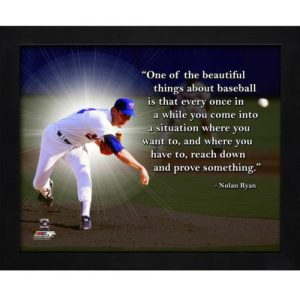 "Nolan Ryan Texas Rangers Framed 11x14 ""Pro Quote"""