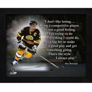 """Ray Bourque Boston Bruins Framed 11x14 """"Pro Quote"""""""