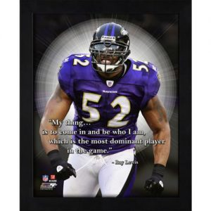 """Ray Lewis Baltimore Ravens Framed 11x14 """"Pro Quote"""""""