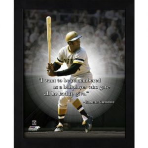 "Roberto Clemente Pittsburgh Pirates Framed 11x14 ""Pro Quote"""
