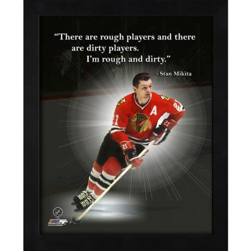 "Stan Mikita Chicago Blackhawks Framed 11x14 ""Pro Quote"""