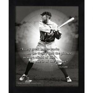 "Ty Cobb Detroit Tigers Framed 11x14 ""Pro Quote"""