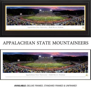Appalachian State University (Twilight) Framed Stadium Panoramic