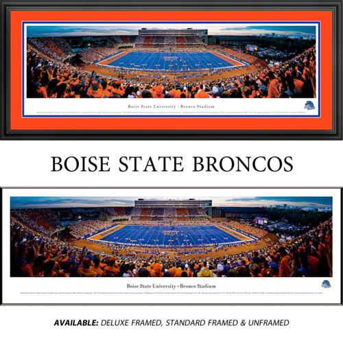 Boise State University (50 Yard Line) Framed Stadium Panoramic
