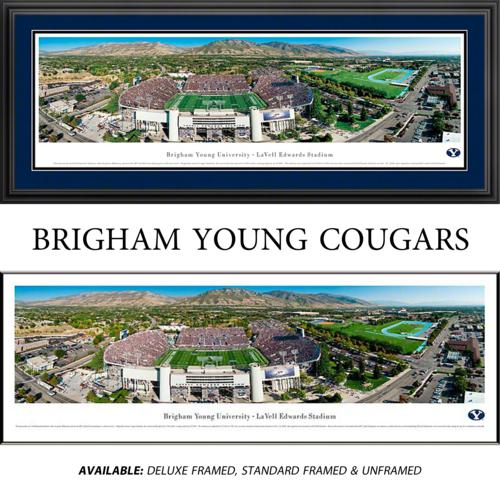 Brigham Young University (50 Yard Line) Framed Stadium Panoramic