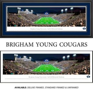 Brigham Young University (End Zone) Framed Stadium Panoramic