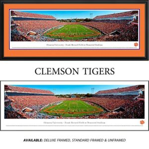 Clemson University Tigers (End Zone) Framed Stadium Panoramic