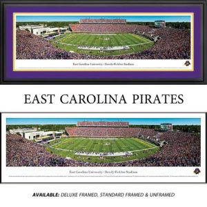 East Carolina University Pirates Framed Stadium Panoramic