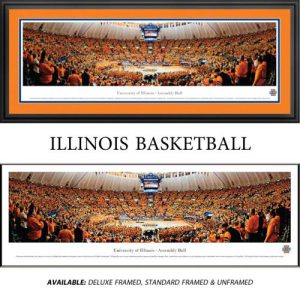 University of Illinois (Basketball) Framed Stadium Panoramic