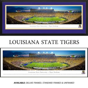 Louisiana State University Tigers Framed Stadium Panoramic