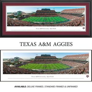 Texas A&M University Aggies Framed Stadium Panoramic