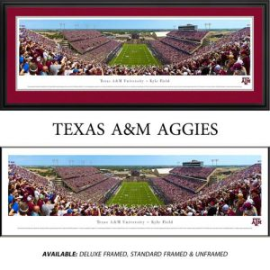 Texas A&M University Aggies (End Zone) Framed Stadium Panoramic