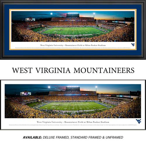 West Virginia University Mountaineers (50 Yard Line) Framed Stadium Panoramic