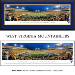 West Virginia University Mountaineers (End Zone) Framed Stadium Panoramic