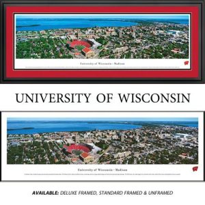 University of Wisconsin Badgers (Aerial) Framed Stadium Panoramic