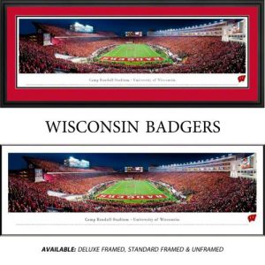University of Wisconsin Badgers (End Zone) Framed Stadium Panoramic