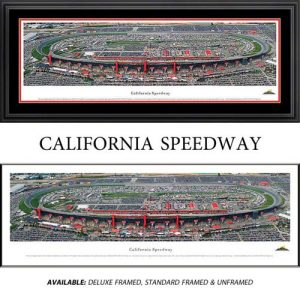 California Speedway Framed Nascar Track Panoramic