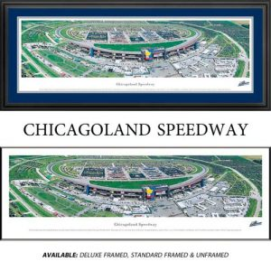 Chicagoland Speedway Framed Nascar Track Panoramic