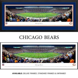 Chicago Bears (50 Yard Line) Framed Stadium Panoramic